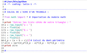 python_aire_triangle