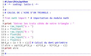 python_aire_triangle